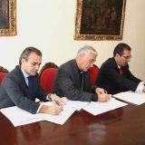 firma convenio obispado Cadiz restauracion Cajasol y Caixa 2015
