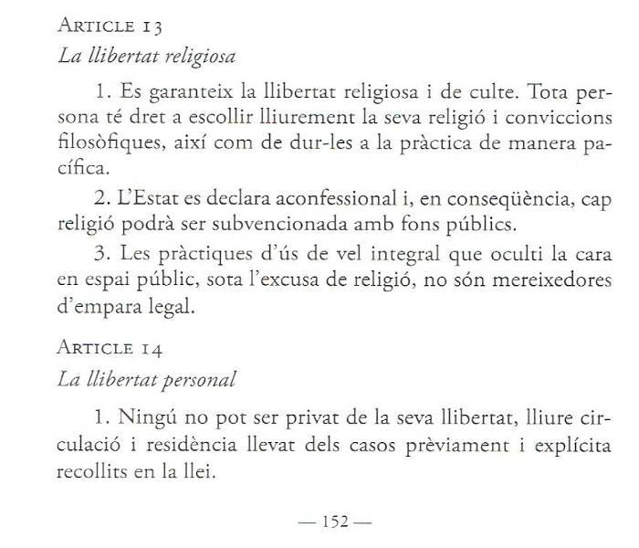 laicidad borrador constitucion catalana