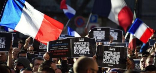 manifestacion contra terrorismo islamista Francia 2015