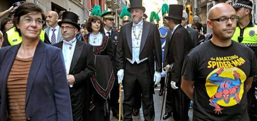 procesion ayuntamiento Pamplona 2015 Bildu