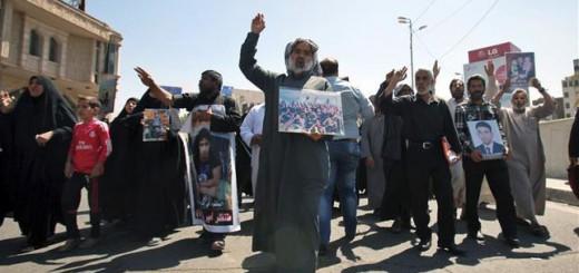 protesta Irak asesinatos Estado Islamico 2015