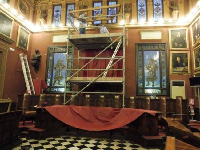 salon plenos ayuntamiento Palma retirada crucifijo 2015