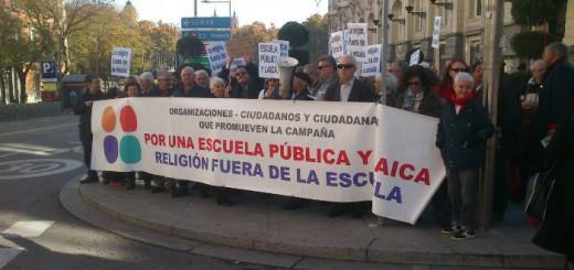 Concentracion Congreso Escuela laica 20151202