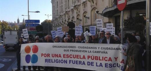 Concentracion Congreso Escuela laica 20151202 b
