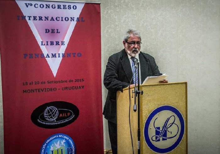 Elbio Laxalte V Congreso Libre pensamiento Montevideo 2015