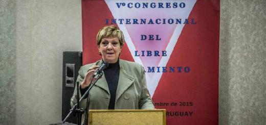 Lilian Abracinskas V Congreso Libre pensamiento Montevideo 2015