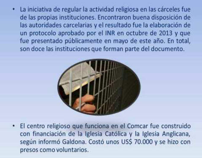 asistencia religiosa prisiones Uruguay