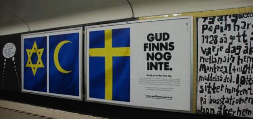 cartel ateos Suecia problablemente dios no existe