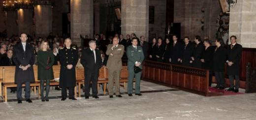 autoridades Mallorca misa san Sebstian 2015