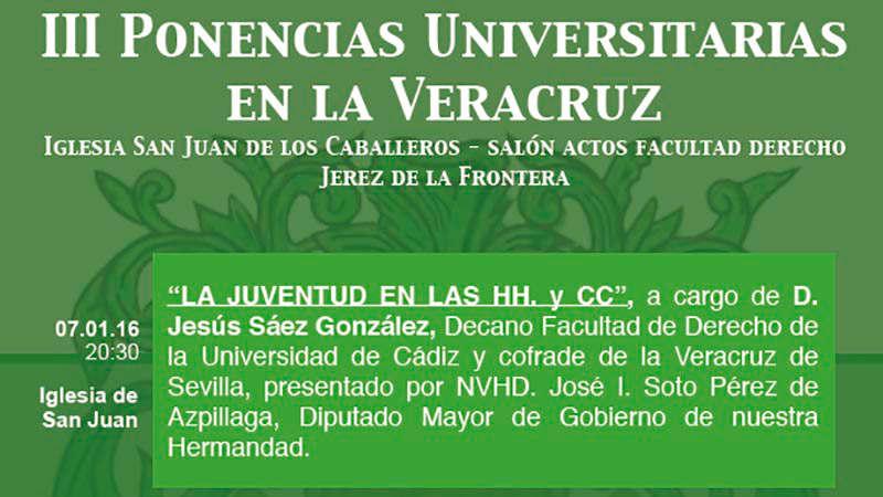 cartel cofradia Vera cruz Jerez y Universidad Cadiz 2016