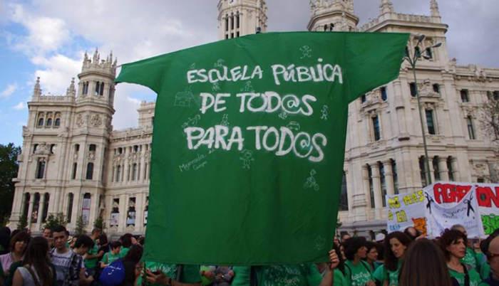 marea-verde escuela publica Madrid
