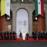 Bergoglio en Mexico 2016 palacio presidencial
