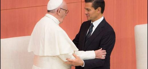 Bergoglio y Pena Nieto presidente Mexico 2016