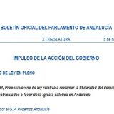 Podemos PNL Parlamento Andalucia inmatriculaciones 2016