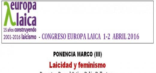 Ponencia laicidad y feminismo 2016