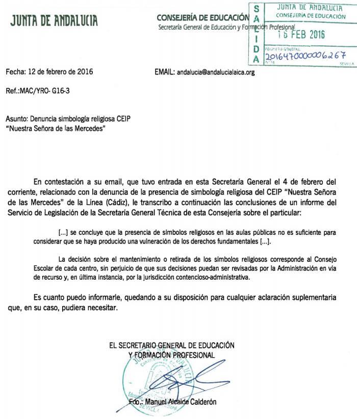 La Consejer A De Educaci N De Andaluc A Permite La