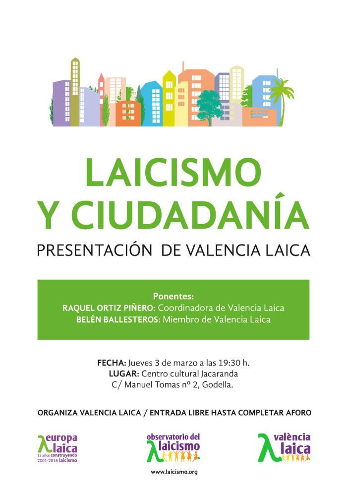 cartel godella valencia laica 20160303