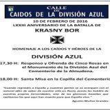 cartel misa division azul cementerio Almudena 2016
