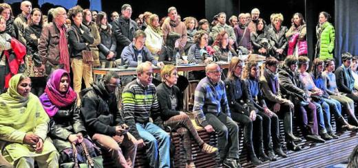SALON ACTOS MANIFIESTO EDUCACION PUBLICA . Vitoria, 15-02-2016. Fotografia Rafa Gutierrez