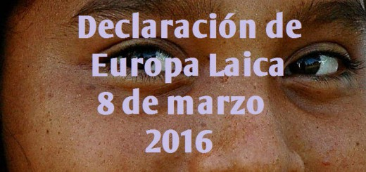 8 de marzo 2016 Europa Laica