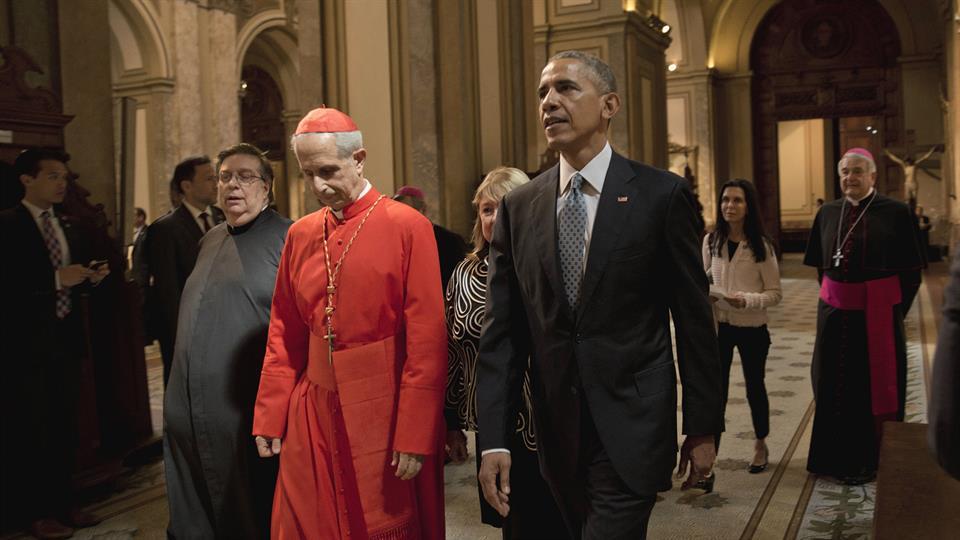 Obama visita catedral Buenos Aires Argentina 2016