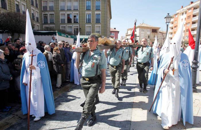 Procesion indulto Palencia 2016  legionarios