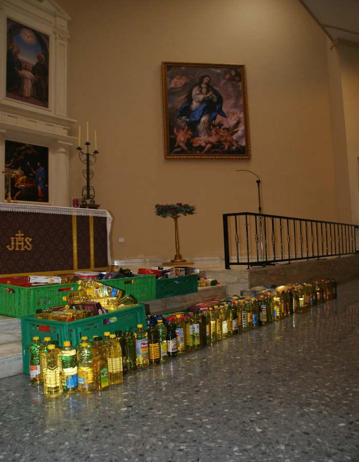 ofrenda alimentos altar CEIP NS Mercedes La Linea 2016 b
