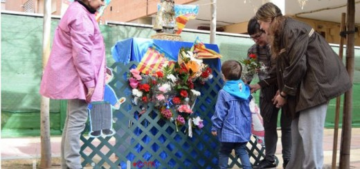 ofrenda virgen escuela infantil Burjasot Valencia a