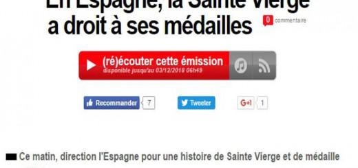 recurso medalla virgen del amor en Inter France