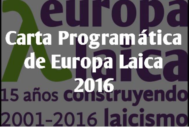 Carta Programatica Europa Laica 2016