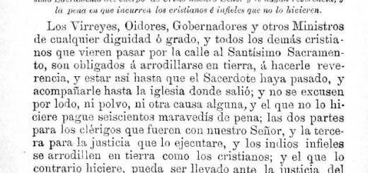 Ley XXVI Felipe IV