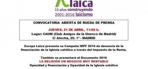 Presenta IRPF Madrid 2016