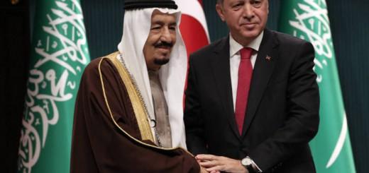 Salman rey de Arabia y Erdogan Turquia 2016