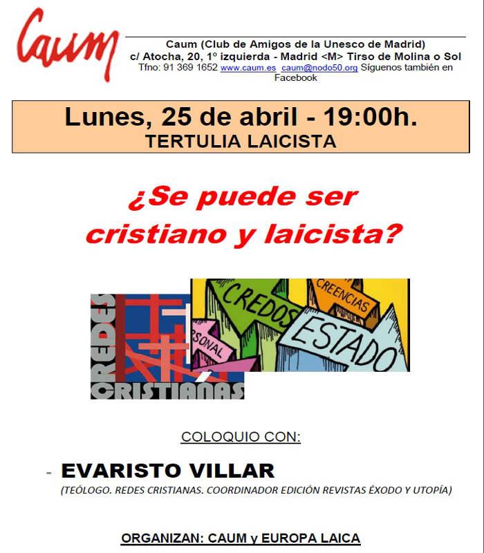 cartel acto CAUM cristianos laicistas 2016