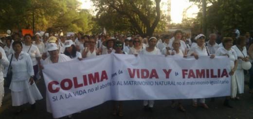 marcha antiaborto Colima Mexico 2016