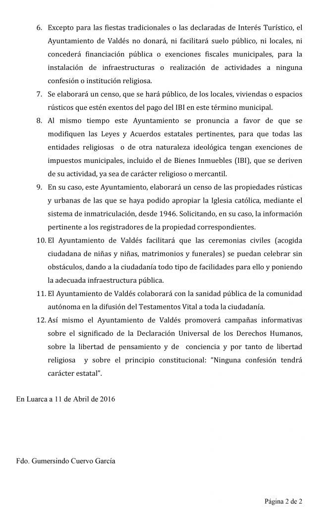mocion-laicidad-2 IU Valdes