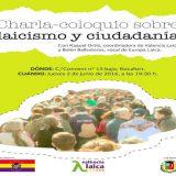 Cartel charla Valencia Laica Rocafort