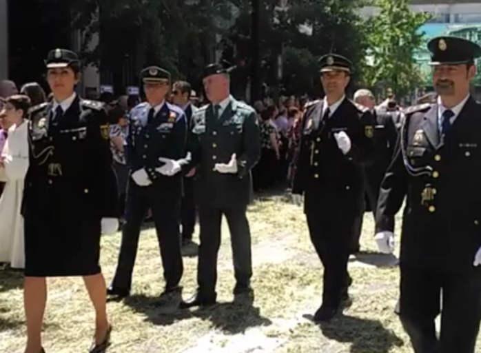 Corpus Granada 2016 cortejo policial