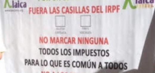 IRPF ninguna casilla pancarta  Madrid