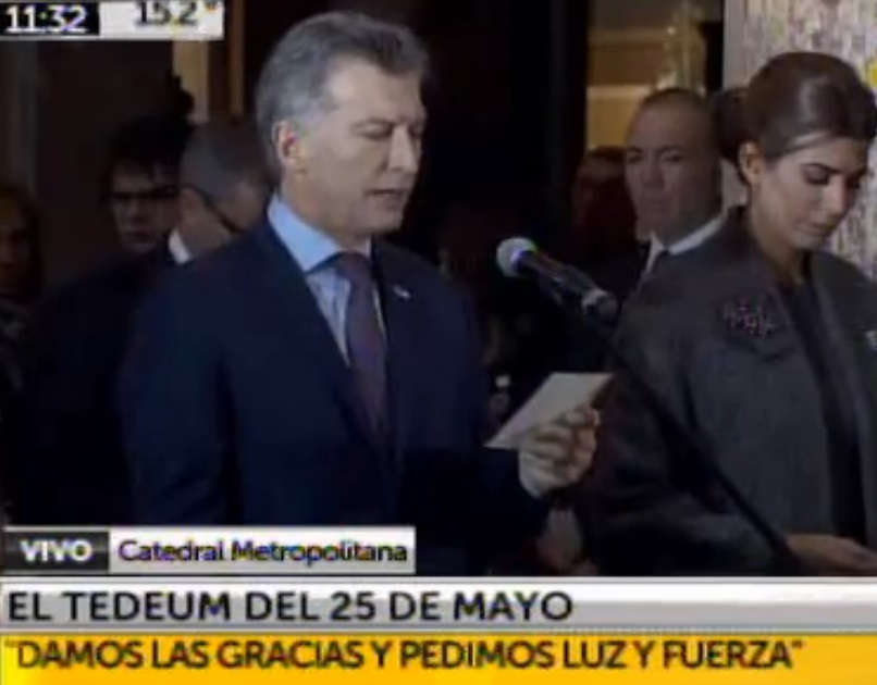 Macri presidente Argentina Te Deum catedral 2016 a