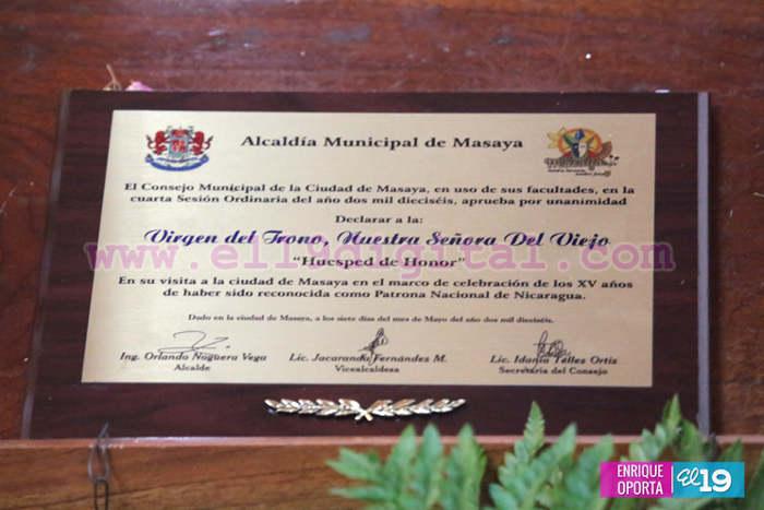 honores virgen del trono Nicaragua