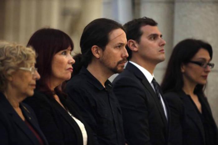 politicos-funeral terremoto Ecuador Madrid 2016 b