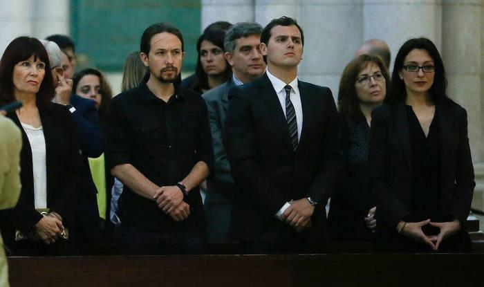 politicos-funeral terremoto Ecuador Madrid 2016