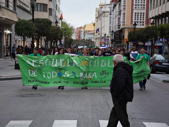 protesta Burgos 2016 escuela publica y laica