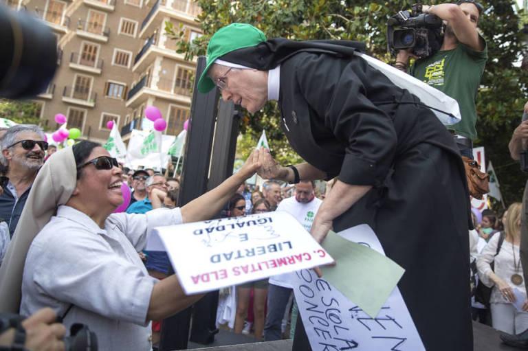protesta concertada Valencia 2016