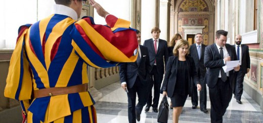 Vicepresidneta Soraya en el Vaticano