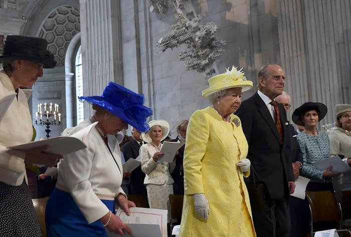 cumpleanos Isabel II en catedral de San pablo 2016
