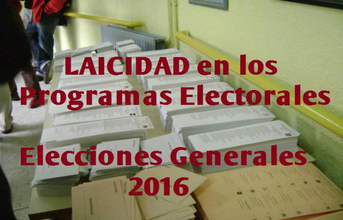 elecciones generales 2016 y laicidad