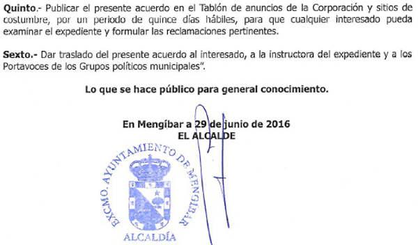 expediente Alcaldesa perpetua Mengibar Jaen 2016 b