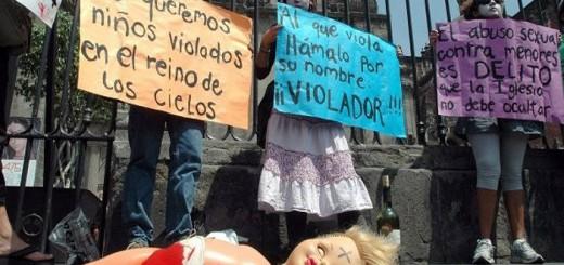 protesta Mexico abusos curas